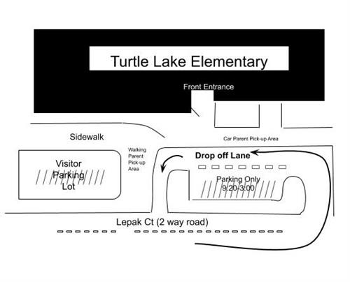 Turtle Lake Parent Drop-Off and Pick-Up Procedures