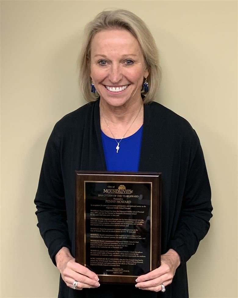 "Mrs. Howard Receives ""Citizen of the Year"" Award"