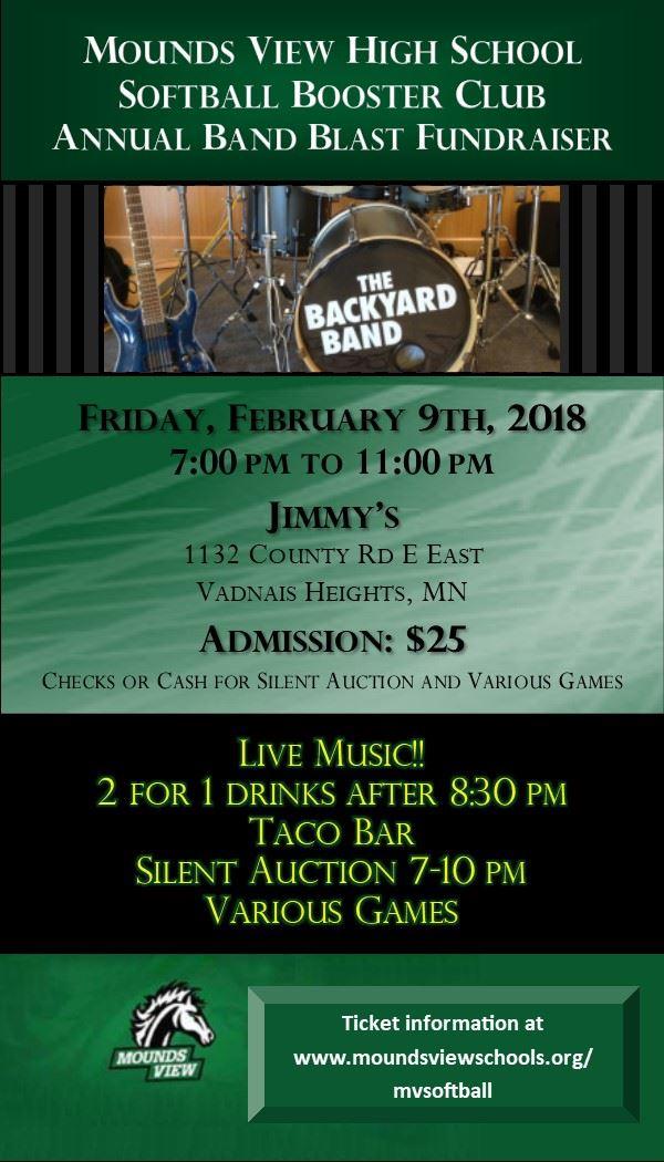 Softball Band Blast Fundraiser