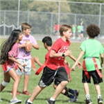 Boys and Girls playing Flag Football