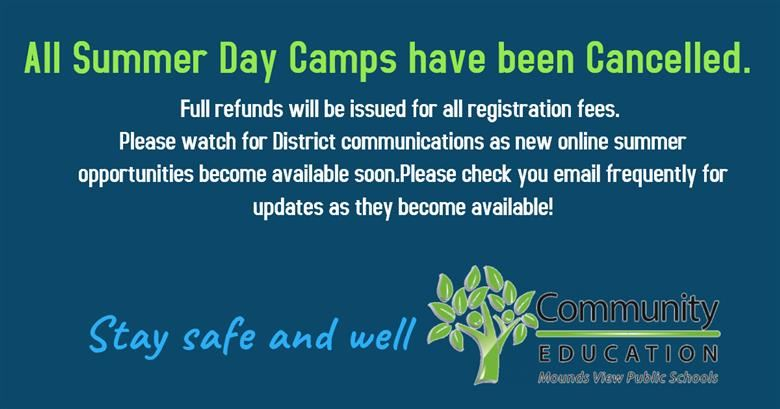 Mounds View Community Education Summer Day Camp Cancellation