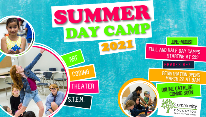 Save the date for Summer Day Camp registration