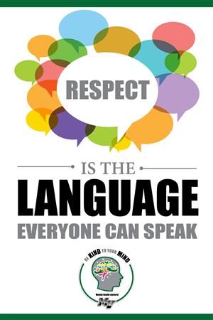 Respect is the language everyone can speak