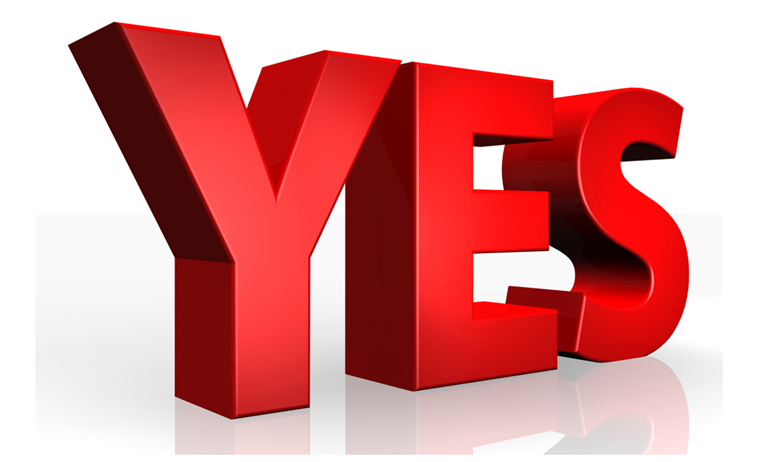 Voters said 'YES!'