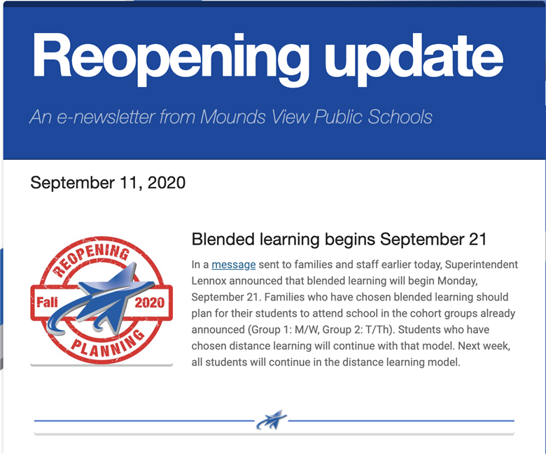 Reopening update, Sept. 11