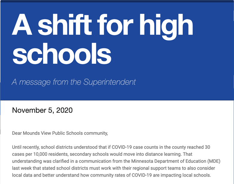 A shift for high schools