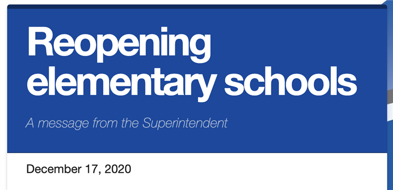 Reopening elementary schools