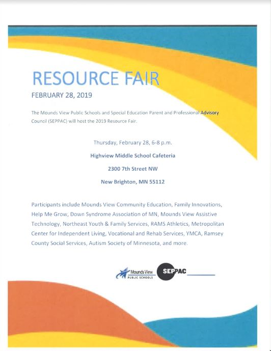 Resource Fair flyer