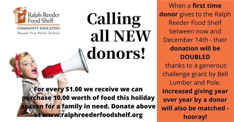 Calling all new donors