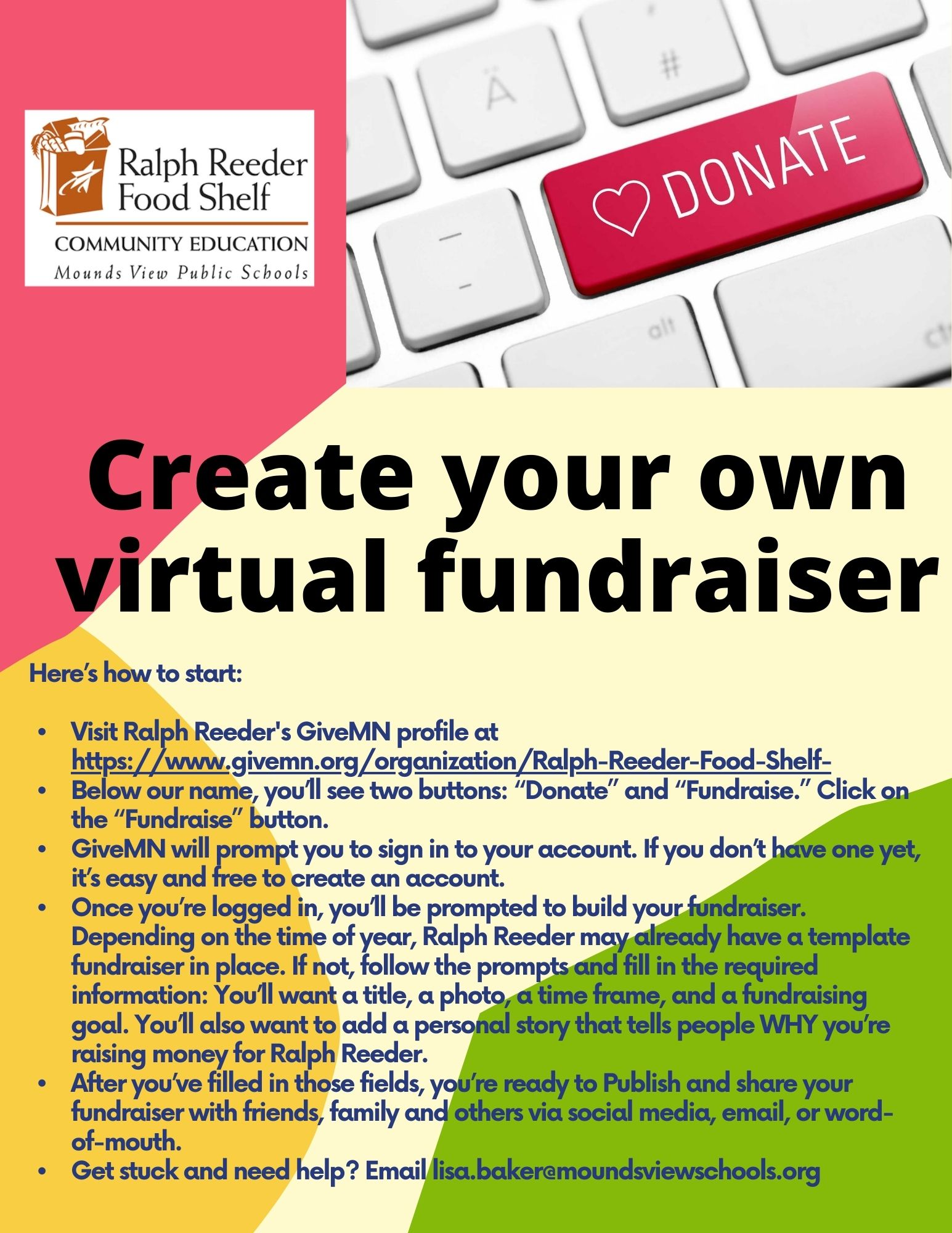 Create your own virtual fundraiser