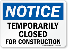 Bel Air Office/Building Closed for Construction